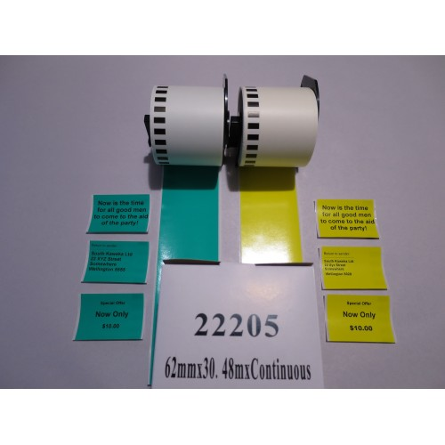 DK-22205 Continuous Yellow Tape