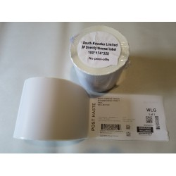 Large Courier Shipping label - without peel off labels